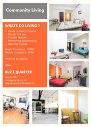Studio Apartments, Rooms for rent Hyderabad, Gachibowli - Living quarter