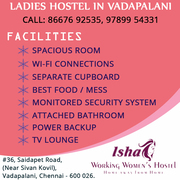 Ladies Hostel In Vadapalani | Hostels In Vadapalani